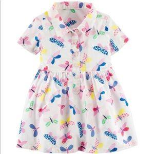 Carters Butterfly 🦋 Poplin Shirt Dress